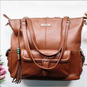 Lily Jade Meggan Diaper Bag Brandy and Jade